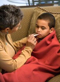 Is It Strep Throat? Strep throat is a common type of sore throat in children, but it's not very common in adults. Healthcare professionals can do a quick test to determine if a sore throat is strep throat and decide if antibiotics are needed. Proper treatment can help you feel better faster and prevent spreading it to others!