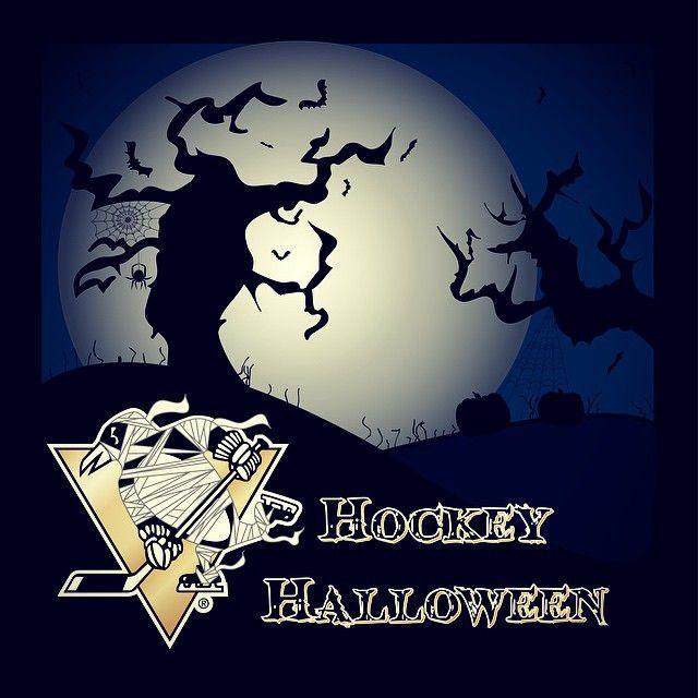Dear fans,  Hockey Halloween!  Love, Mummy Penguin