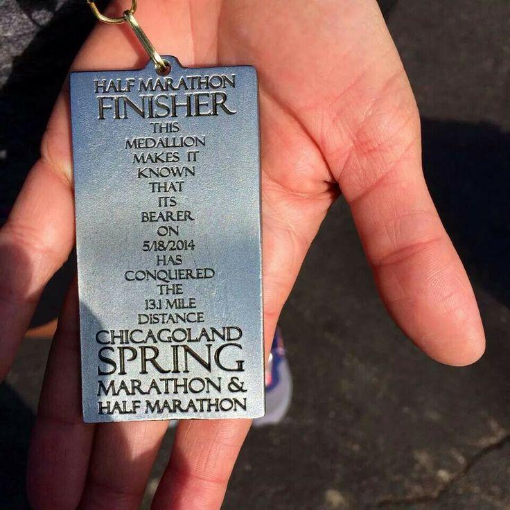 Chicagoland Spring Half Marathon 2014 Finisher's Medal