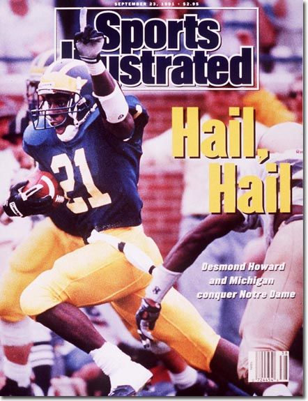 Flashback Friday: Desmond Howard dons the cover of the September...