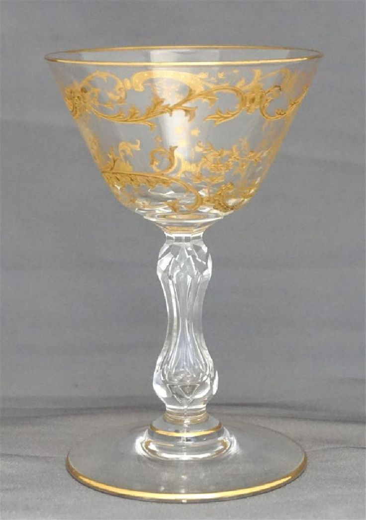 10 ST. LOUIS CRYSTAL MICADO GOLD ETCHED LIQUOR GLASSES - 2