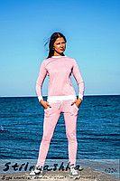 Женский легкий спортивный розовый костюм  6226