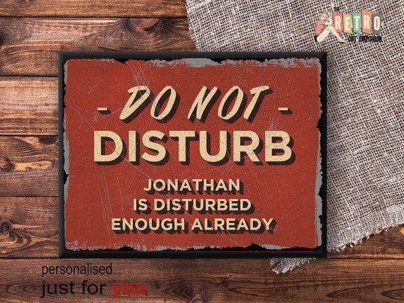 Personalised Do Not Disturb Plaque