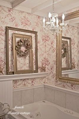 52 best french country bathroom images on pinterest for French cottage bathroom design