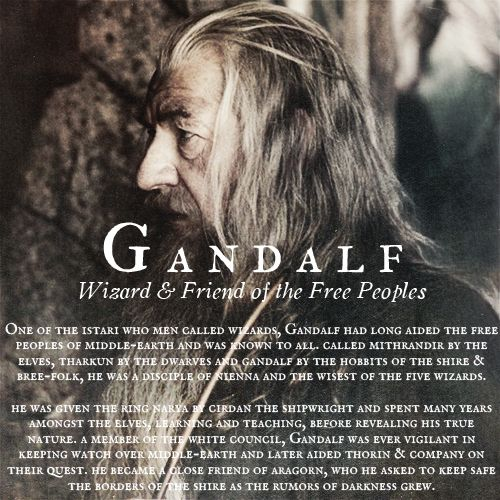 Gandalf, Wizard and friend of the free peoples of Middle Earth #TheLordOfTheRings #Gandalf