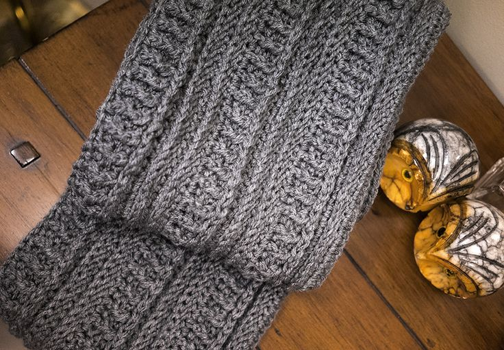 Ribs and Ridges Scarf from The Friendly Red Fox