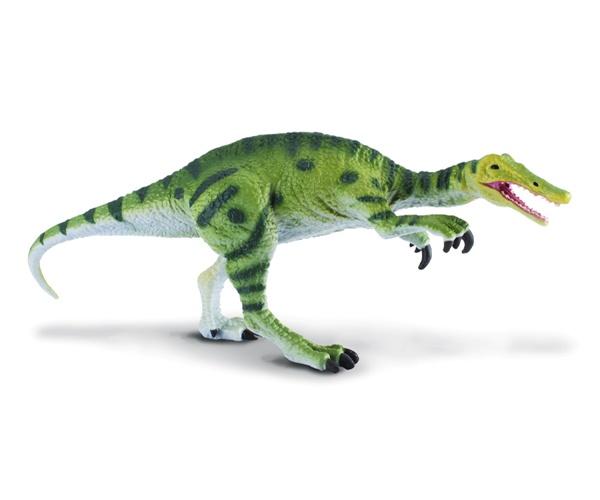 """Baryonyx - El Baryonyx era un dinosaurio piscívoro con una mandíbula parecida a la de los cocodrilos y dos garras curvas. Su nombre significa """"garra poderosa"""". Medía 10 metros de largo y pesaba hasta 2 toneladas! Vivió a principios del cretácico, hace 130 millones de años. Alto: 8 cm Largo: 20 cm Figuras de gran calidad y detalle, parecen de verdad! Edad: a partir de 3 años Marca: Collecta Ref. 30140 Precio: 8.00 € IVA incluido"""