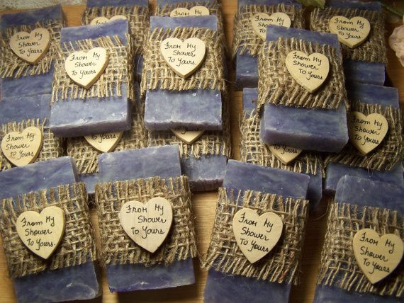 rustic favors 30 wedding favors bridal shower di CountryChicSoaps