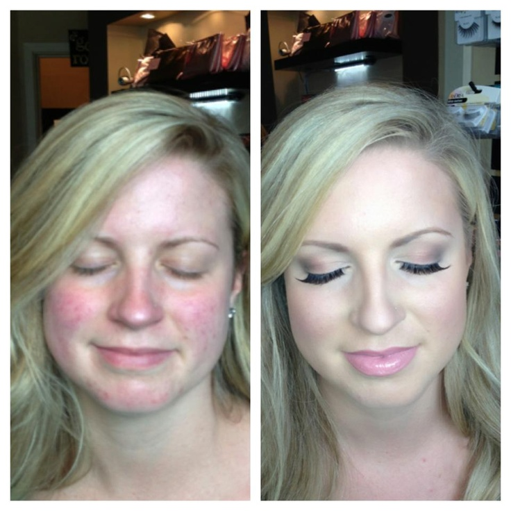 Bridal Make-Up Before and After