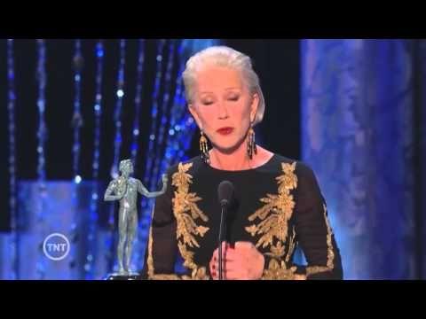 Helen Mirren | Acceptance Speech | SAG Awards - YouTube