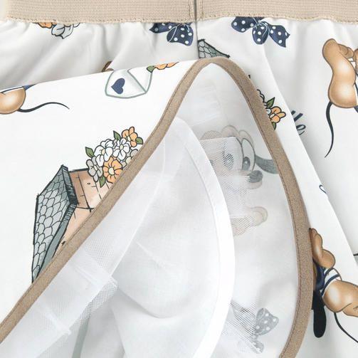 Платье с принтом из поплина