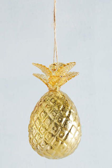 Gold Pineapple Ornament // The Inspired Room Christmas Shop