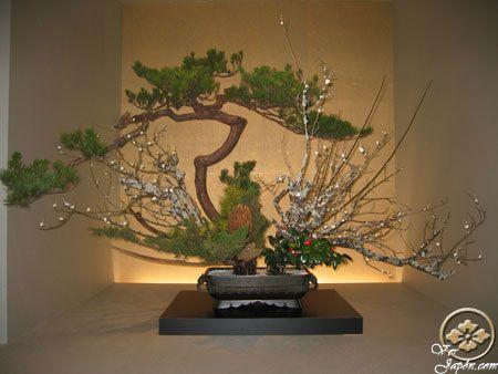 Y un hermoso Ikebana (arreglo floral japonés)