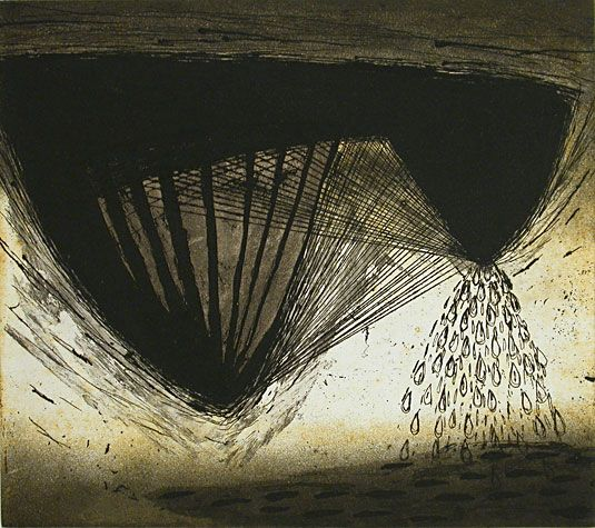 Akiko Taniguchi. No Trace, 2001. Etching, collagraph. State II. Edition of 20. 7-7/8 x 8-7/8 inches.