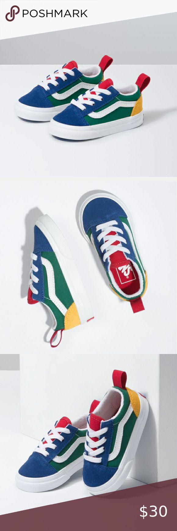 The Toddler Vans Yacht Club Old Skool Elastic Lace | Elastic laces ...