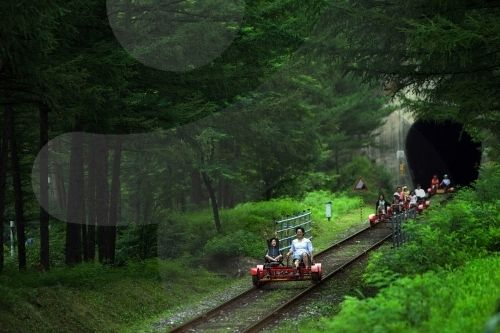 Rail Bike (Gangwon-do Jeongseon-gun) in South Korea---Fun!