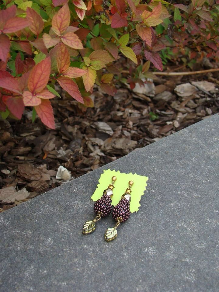 Beaded earrings by Natalie