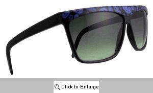 Paisley Straight Bridge Sunglasses - 193 Black/Blue