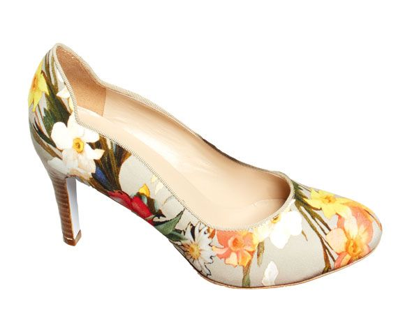 These fun, floral pumps from Ron White will complement many a summer frock.