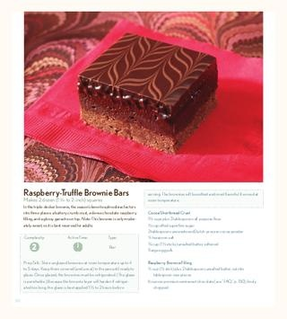 Raspberry-truffle brownie bars, look delicious