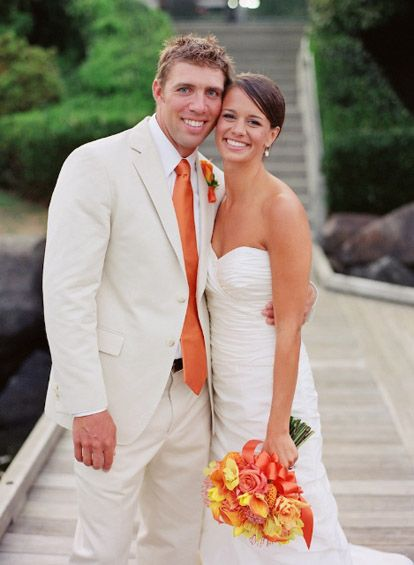 17 best images about orange wedding on pinterest burnt for White and orange wedding dress