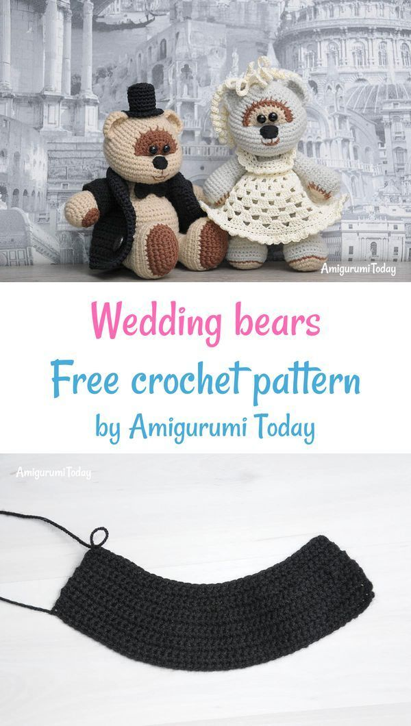 Free Teddy Bear crochet pattern - Amigurumi Today | 1060x600