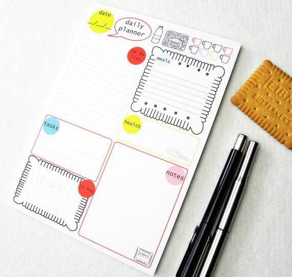 Tägliche Planner Notepad, Aufgabenliste, Notizblock, stationäre Notepad, hübsch Notizblöcke, Tagesplaner, tägliche Notepad, to-do-Liste, Planer A5, 50 Blatt