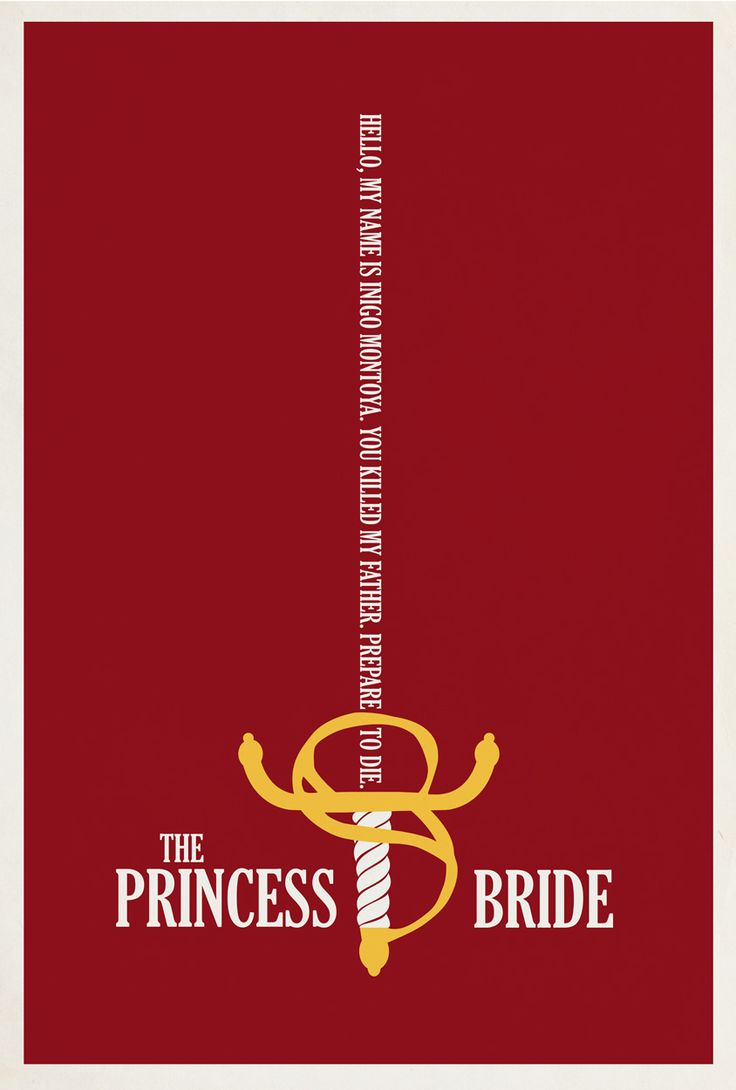 The Princess Bride (1987) - Minimal Movie Poster by Matt Owen ~ #mattowen #minimalmovieposters #alternativemovieposters