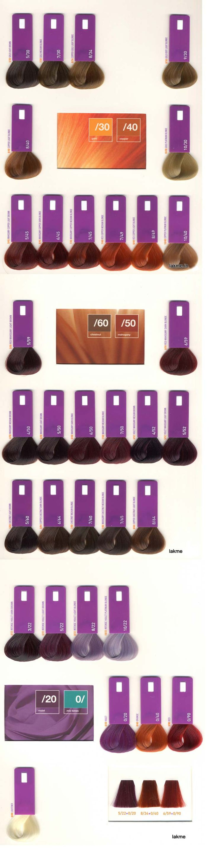 lakme gloss color rinse swatch book - Matrix So Color Swatch Book