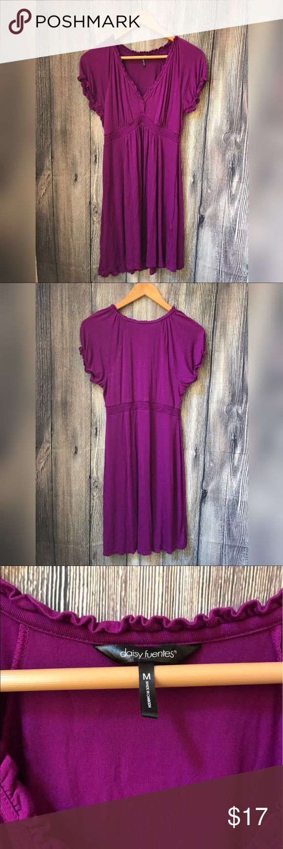 Daisy Fuentes purple dress Worn a few times, no flaws. Super comfy casual dress Daisy Fuentes Dresses Midi