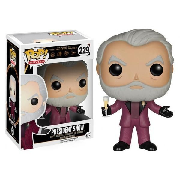 The ruthless and tyrannical president of Panem has never looked so cute! This Hunger Games Movie President Snow Pop! Vinyl Figure features the dictator as seen