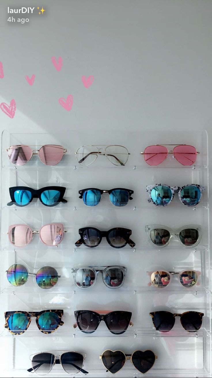 Sunglasses collection storage