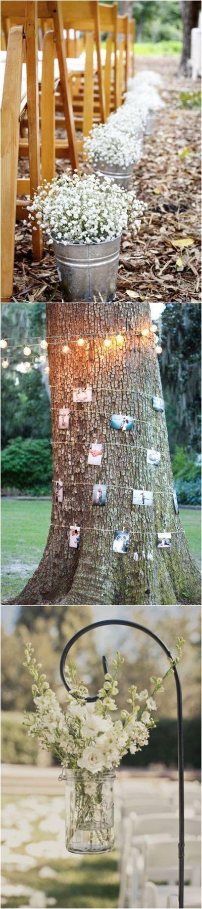 Rustic Weddings » 20+ Genius Outdoor Wedding Ideas » Outdoor wedding decorations