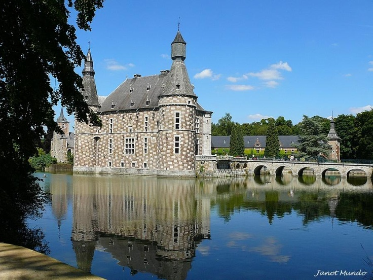 Château de Jehay --possibly one of Belgium's most enchanting castle, with a moat and lovely gardens.