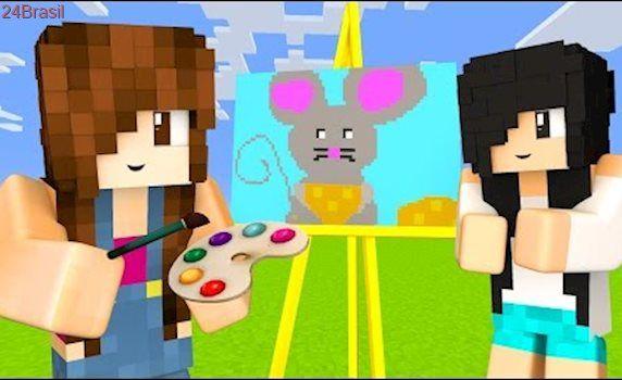 Minecraft Pixel Painters - ANJINHO E QUEIJO