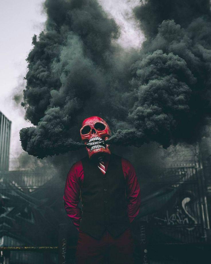 Крутые картинки в дыму, открыток днем