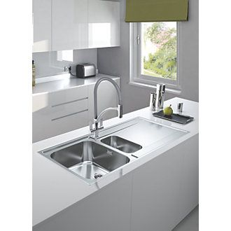 £199.99 Franke Wave Pull-Out Mono Mixer Kitchen Tap Chrome 5 Pack | Pull Out Kitchen Taps | Screwfix.com