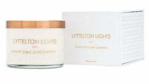 Lyttelton lights candle - Sweetpea & jasmine