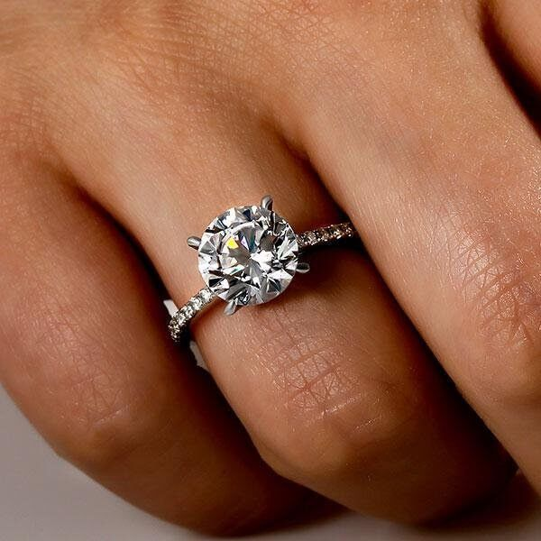 8ee87f1696a68 Italo Classic Half Eternity Created White Sapphire Engagement Ring ...