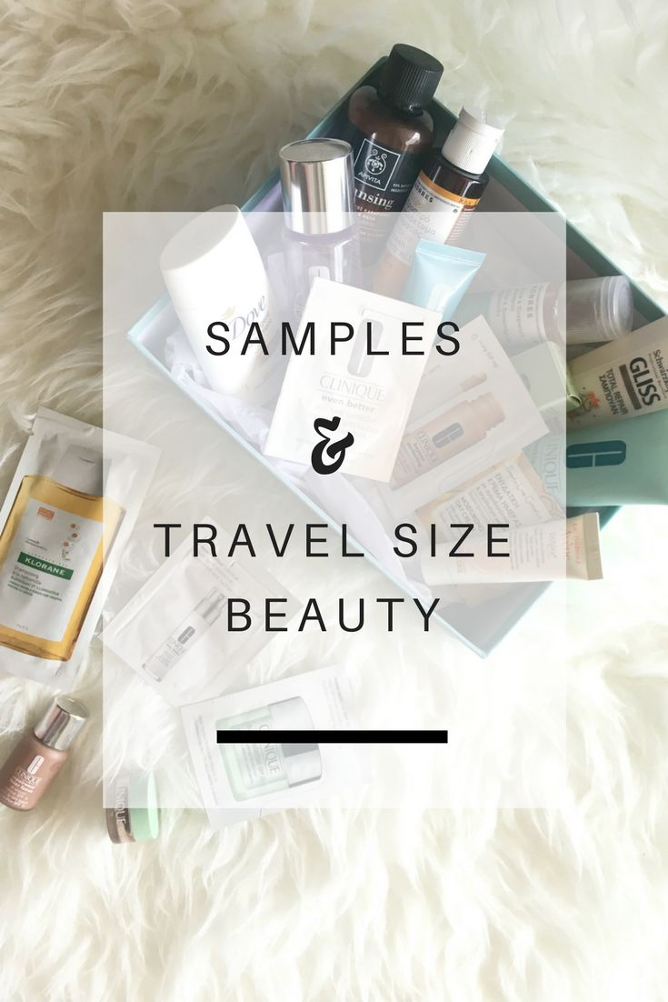 Samples & Travel Size Beauty: How and where to find quality make up samples and travel size beauty products - Ioanna's Notebook