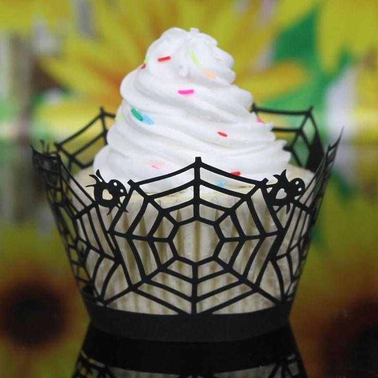 100 Pcs Halloween abóbora aranha de aniversário de papel de cozimento bolo Tray Muffin caso queque invólucro decoração festa(China (Mainland))