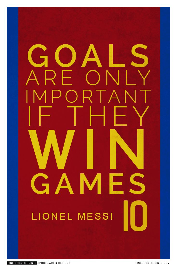 """Lionel Messi Quote on Print. See more at www.finesportsprints.com #messi #sportsquote #barcelona"""