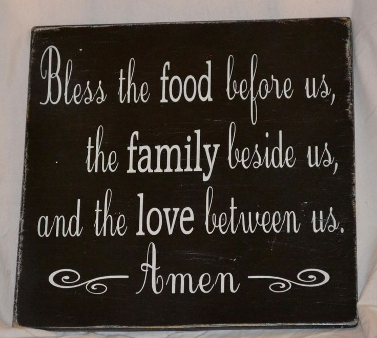 Bless The Food Before Us - Beautiful Blessing Sign -  Dining Room - Kitchen - Home Decor - Wall Hanging - Rustic - Distressed - Primitive - The Sign Shoppe