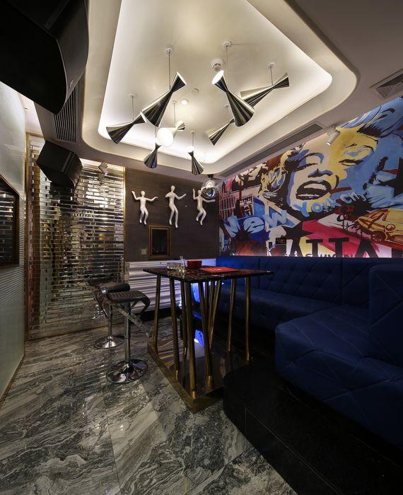 Semicircular Ktv Room Interior Design: ChaoPai Discount-style KTV (Guangzhou, China), Asia