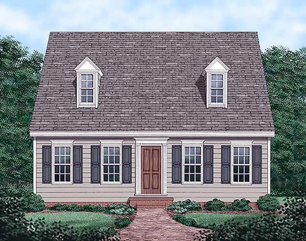 Cape cod house plan 45336 house plans home and houses for Small cape cod house