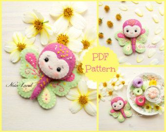 PDF. Owl family garland. Plush Doll Pattern Softie di Noialand