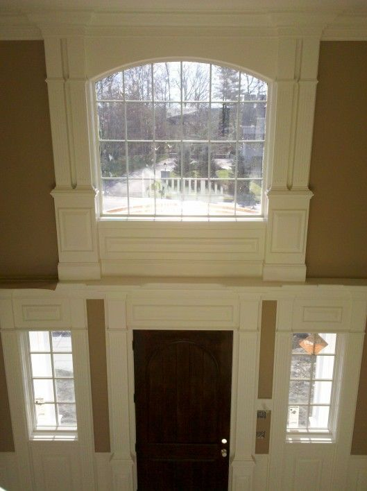 Foyer Trim Design : Molding around the window foyer pinterest foyers