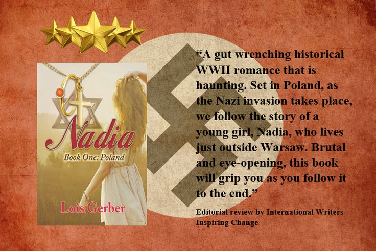 """IWIC Book Review: Nadia: Poland - """"A gut-wrenching historical WWII romance that is haunting!"""" http://www.writersinspiringchange.com/iwic-book-reviews.html"""