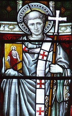 """May 27th - St Augustine of Canterbury, Archbishop - Quote:  In a letter to Augustine, Pope Gregory the Great wrote: """"He who would climb to a lofty height must go by steps, not leaps.""""  Patron Saint of:  England"""