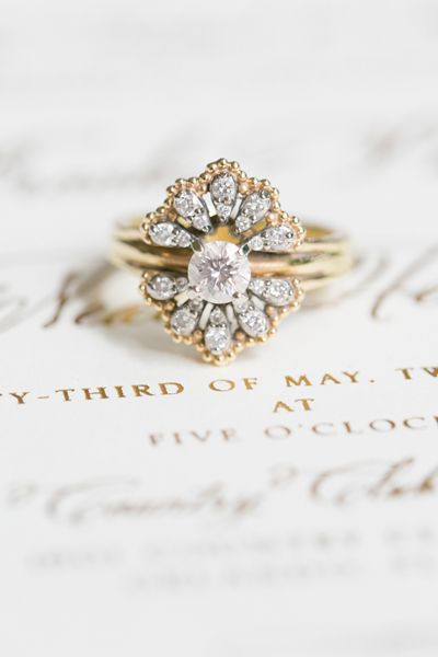 vintage yellow gold engagement ring | Amalie Orrange